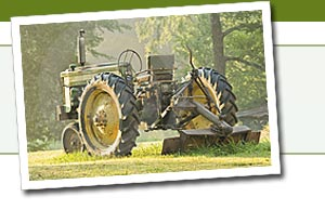 Antique tractors and tractor parts for sale